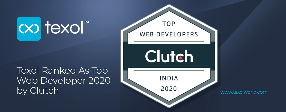 Texol Ranked As Top Web Developer in India by Clutch
